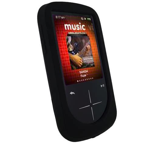 Fuze Black Samsung 2 noir silicone etui pour sandisk sansa fuze plus mp3 housse