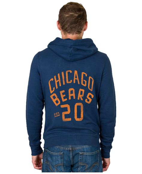 Sweater Hoodie Junk182 Front Logo junk food s chicago bears sunday hoodie in blue for lyst
