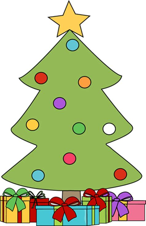 christmas tree with presents clipart clipart panda