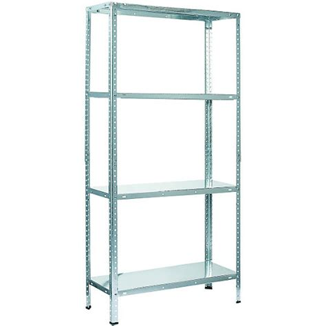 Steel Shelving Systems Wickes 4 Tier Metal Shelving Unit 45kg Wickes Co Uk