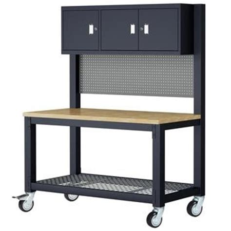 costco bench costco uk whalen mobile work bench with cabinets new house complete pinterest