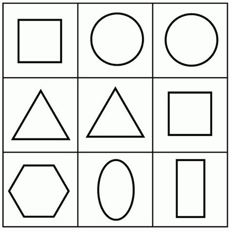 figuras geometricas para colorir imagen para pintar figura geometricas imagui