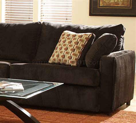 large sofa back cushions viva chocolate fabric modern sectional sofa w large back