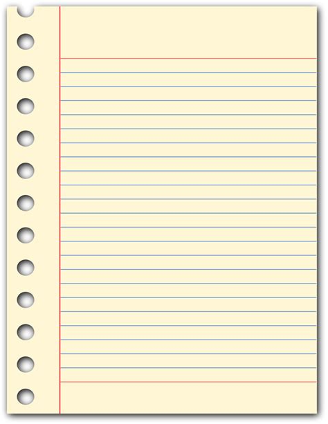 pad paper template notepad page education supplies paper notepad page png html