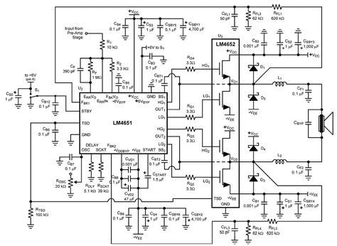 lifier circuit diagram 170w class d lifier schematic diagram