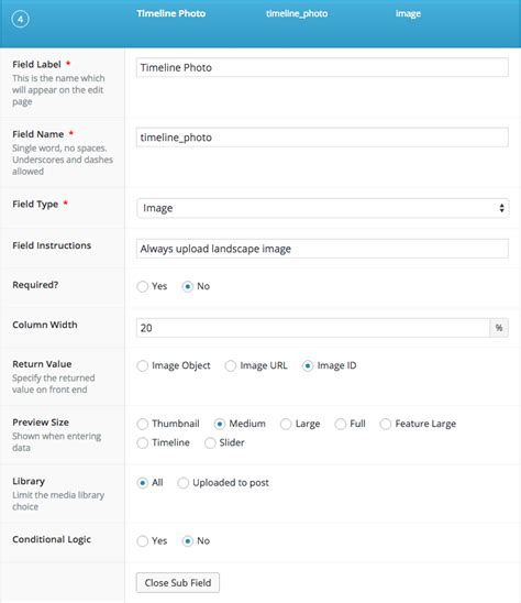 wordpress acf layout timeline with wordpress page template and acf semblance