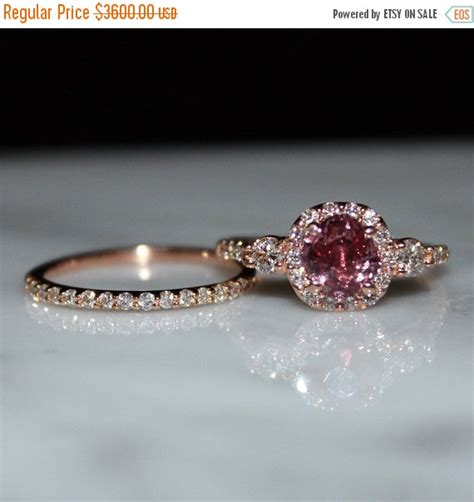 padparadscha sapphire engagement ring sapphire ring pink sapphire ring padparadscha sapphire