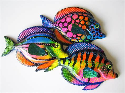 Fish home wall decor fish wall hanging whimsical fish art