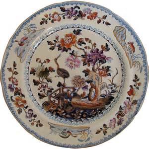 Plate Patterns by Davenport Stone China Plate Chinoiserie Stork Pattern