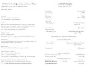 lds sacrament meeting program template lds sacrament program 2013 just b cause