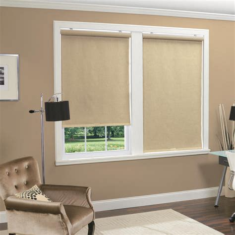 menards window coverings homebasics 174 cordless thermal roller shade 31 quot x 66 quot