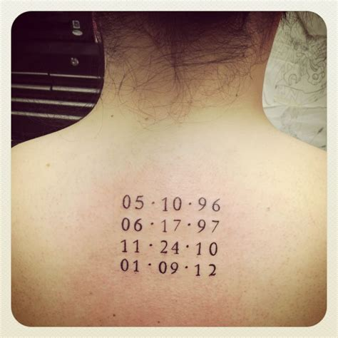 date of birth tattoo designs birth dates i d like this smaller