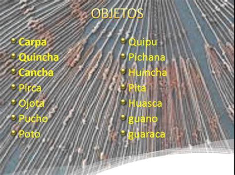 pattern making traduccion en español video de las palabras quechuas que se encuentran en el