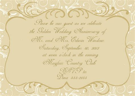 50th anniversary invitations templates 50th wedding anniversary invitation by celebrationspaperie