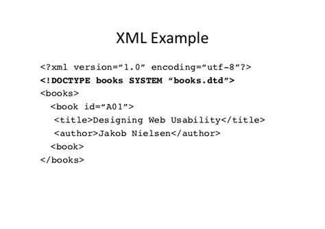 exle of xhtml introduction to xml xhtml and css