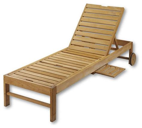 Outdoor Chaise Lounge Chairs Teak Chaise Chair Traditional Outdoor Chaise Lounges By Lands End
