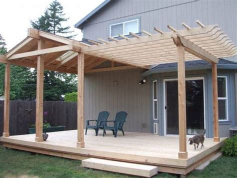 backyard roofed patio this deck patio roof is half gable and half pergola