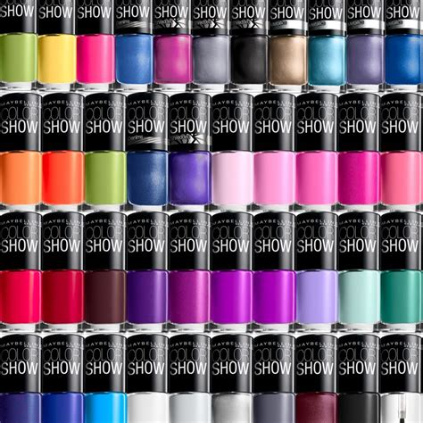 maybelline color show maybelline nail color show choose your favorites