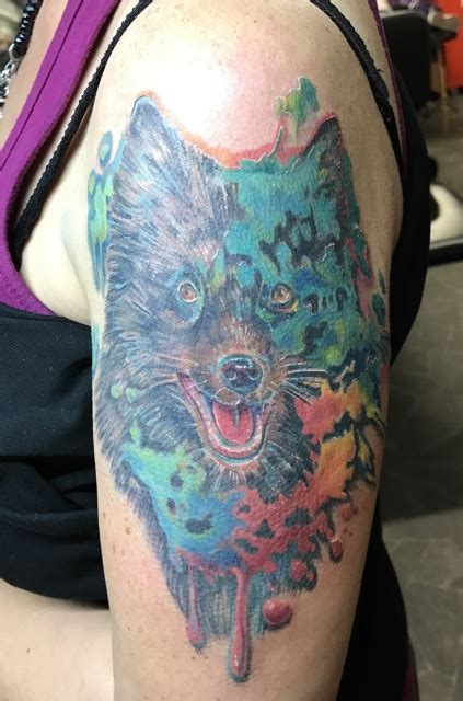 janey75 watercolor hund tattoos von tattoo bewertung de