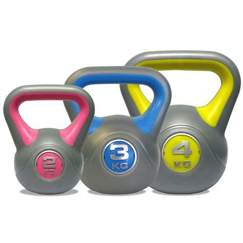 X Kemasan 1 Kg dkn 2 3 and 4kg vinyl kettlebell weight set