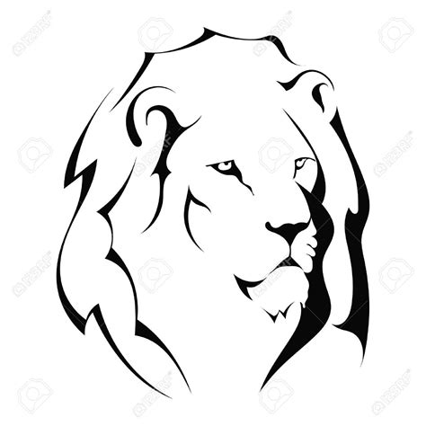 lion outline tattoo loin clipart clipart panda free clipart images