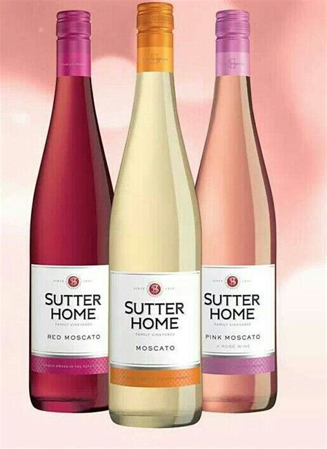 sutter home moscato food drinks