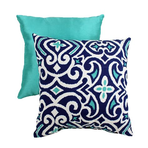 Decorative Pillows Navy Aqua And White Pillow Home Decor