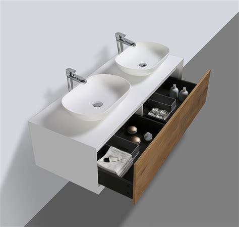 mobile bagno elegante elegante mobile bagno fiona 140cm bianco opaco e rovere