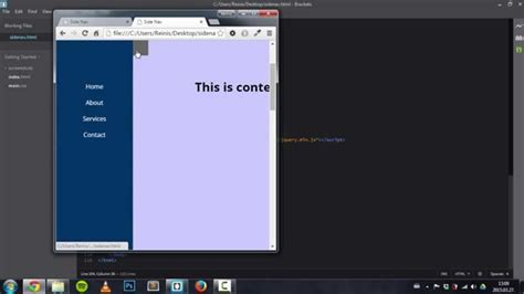 css js tutorial side or vertical navigation bar tutorial html css