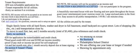 section 8 cost no section 8 the craigslist practice that could cost