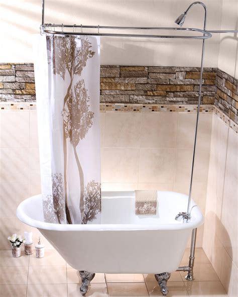 claw bathtub shower curtain choosing a shower curtain for your clawfoot tub kingston