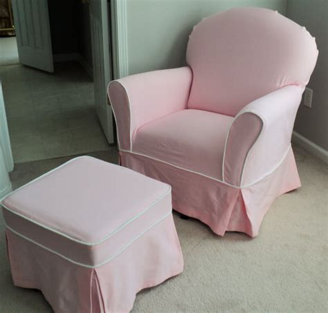 Slipcover For Glider And Ottoman Custom Nursery Glider Chair And Ottoman Slipcover Set