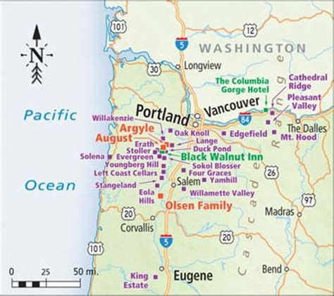 map of oregon wine country touring wine country in oregon portland oregon