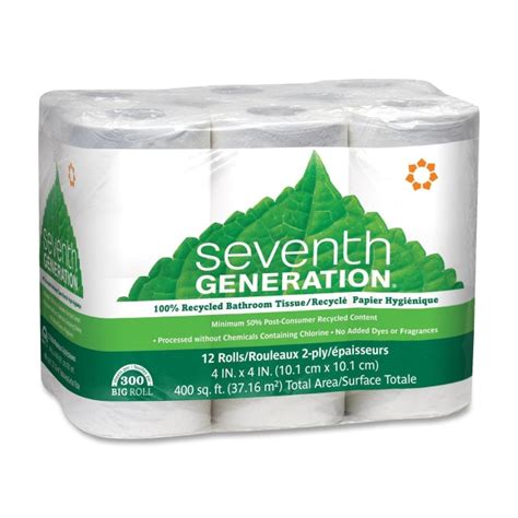Bathroom Tissue Seventh Generation Inc 13733 13732 Tissues Towels