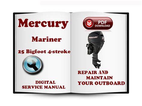 Mercury Mariner Outboard 25 Bigfoot Hp 4 Stroke 1998