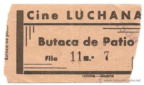 entradas al cine precios entrada antigua de cine luchana madrid comprar entradas