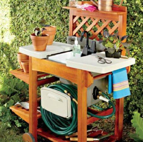 Outdoor Garden Sink Station by Wood Garden Sink Portable Work Station Outdoor Lawn Garden