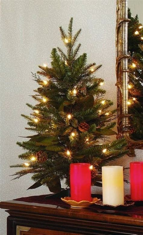 tabletop christmas tree with led lights 52 small tree decor ideas comfydwelling
