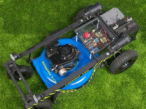 arduino controlled rc lawn mower