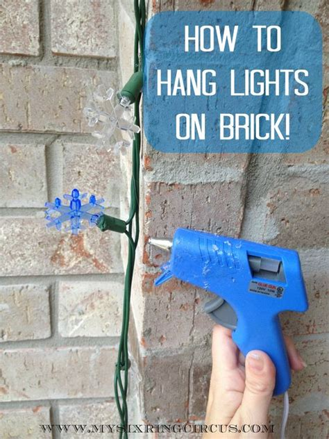 how to hang a picture on a brick wall 19 holiday lights tips to make christmas easier