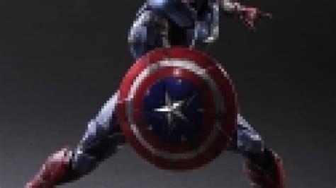 Play Arts Marvel Universe Ori Square Enix New Misb Marvel Universe Variant Play Arts Figure Captain America