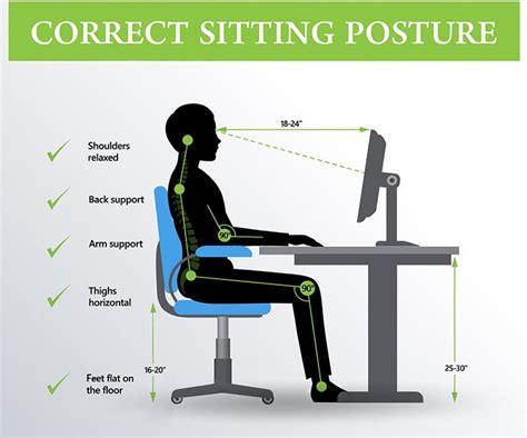 better posture sitting at desk best 25 proper sitting posture ideas on table