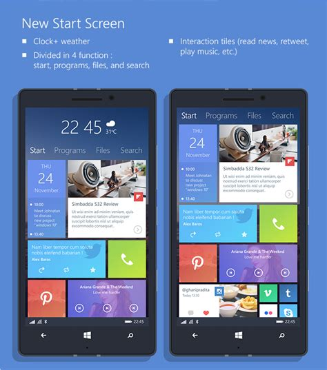 home design windows 10 windows phone 10 design concept with reved start