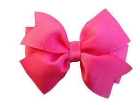 bow hair camelia hair bow pink bow 4 inch hair bow
