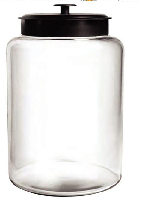 large glass jars large montana glass jar w black metal lid canister