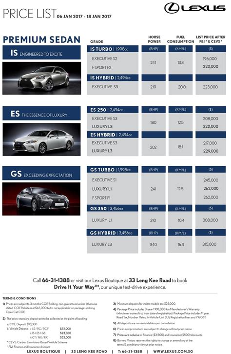 lexus price list 2017 lexus price list car wallpaper hd