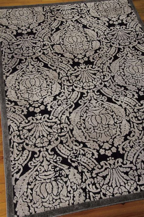 graphic rug nourison graphic illusions gil09 black rug