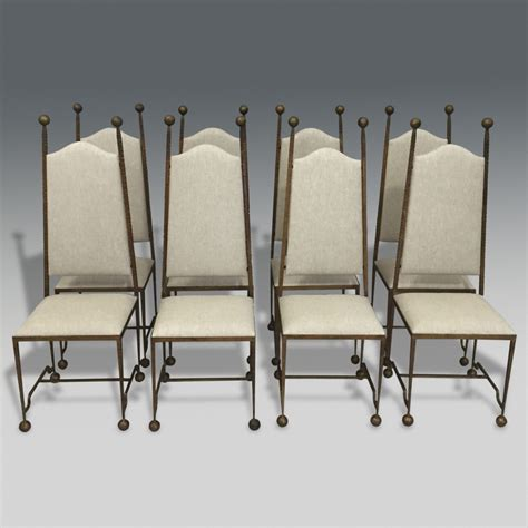 wrought iron dining chairs uk set of 8 gilded wrought iron dining chairs