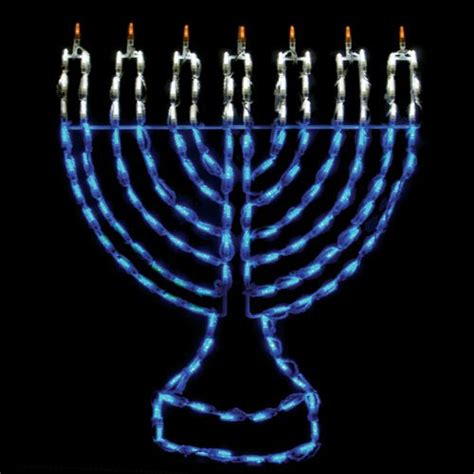 32 in outdoor led menorah display 150 bulbs outdoor
