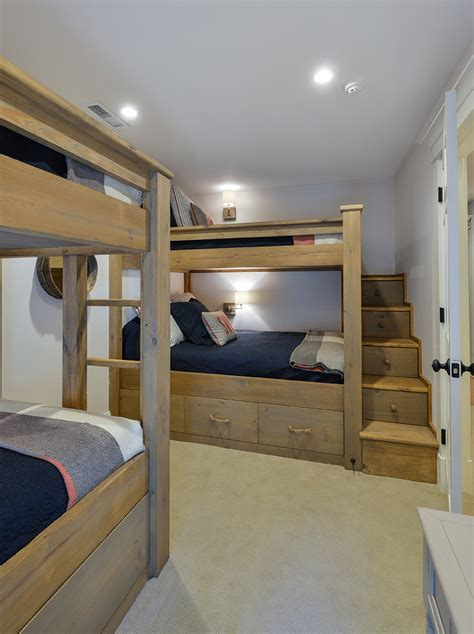 kids loft bed with stairs chic bunk beds with stairs in kids traditional with built